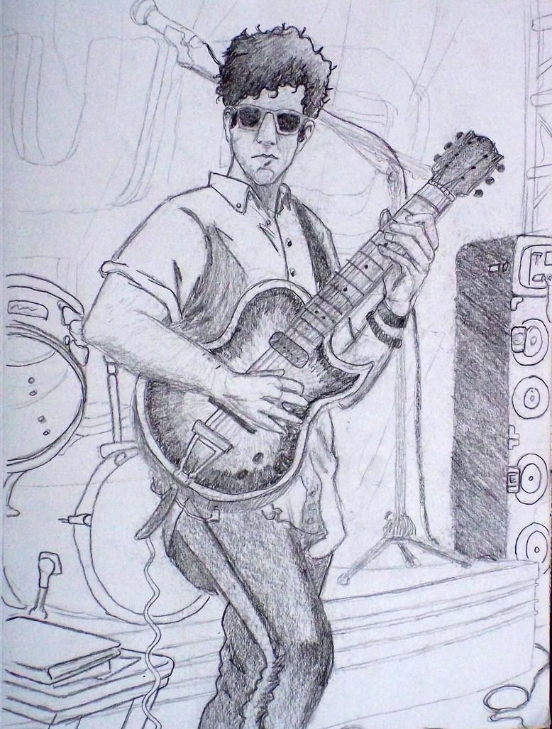 guitar player drawing by mallorylucas on DeviantArt