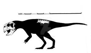 Psittacosaurus major skeletal reconstruction