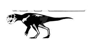 Psittacosaurus meileyingen skeletal reconstruction