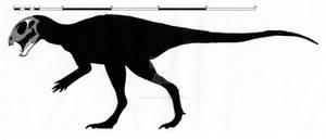 Pegomastax africanus skeletal restoration