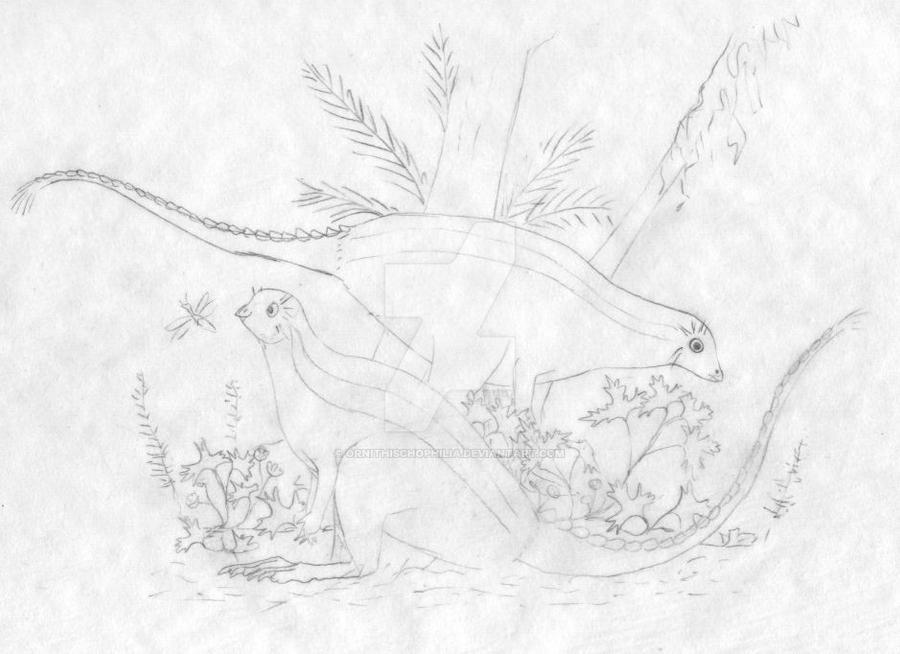 Yixian forest floor scene WIP by ornithischophilia