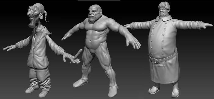 Characters in progress