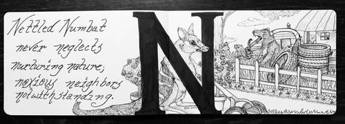 The Letter N:  Nettled Numbat