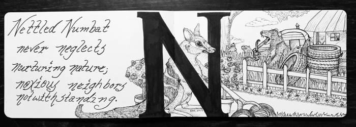 The Letter N:  Nettled Numbat