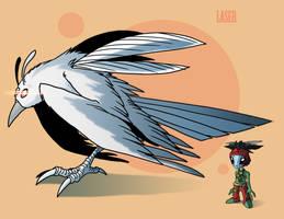 Martian Crow: Laser by Crazon