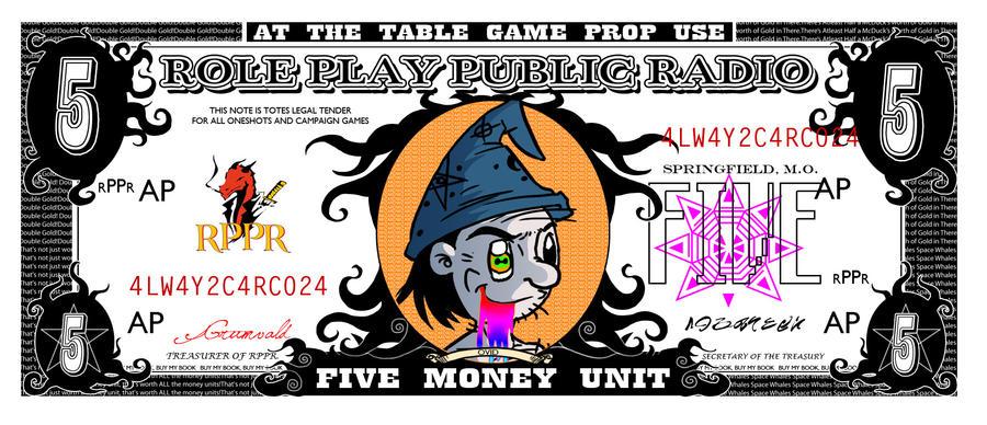 RPPR - Five Money Unit Front by Crazon