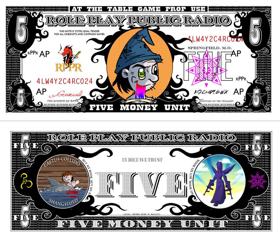 RPPR - Five Money Unit Bill complete by Crazon