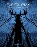 Deer Guy poster mock-up by Crazon