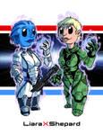 Fanart - Mass Effect: LiaraXShepard