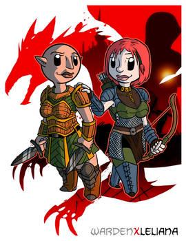 Fanart - Dragon Age Origins: WardenXLeliana