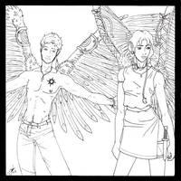 Ayldaron and Aero by whisperelmwood