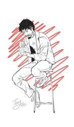 Tony Stark by whisperelmwood