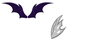 Bat pony+Changeling wings :free to use: