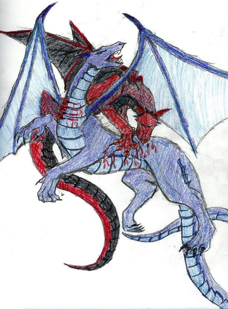 dragons fighting by rahkshad on deviantart