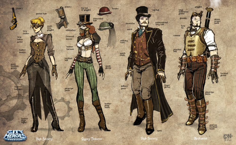 Steampunk Sketches A by pixelsaurus on DeviantArt
