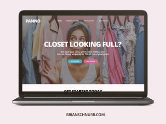 Quick landing page for a clothing company by Schnurr
