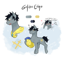MLP OC ~ Golden Edge by nychnymph
