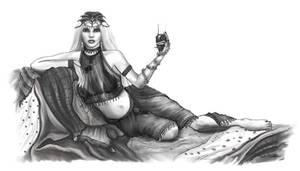 Almadanische Hexe zu Gast in Aranien by Ghosthornet