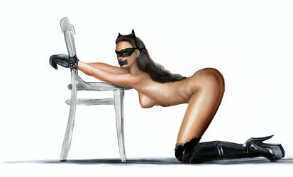Catwoman (Dark Knight) in serious trouble by Ghosthornet