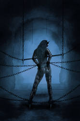 Catwoman seriously chained - no escape by Ghosthornet