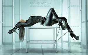 Catwoman in Arkham Asylum for correction by Ghosthornet