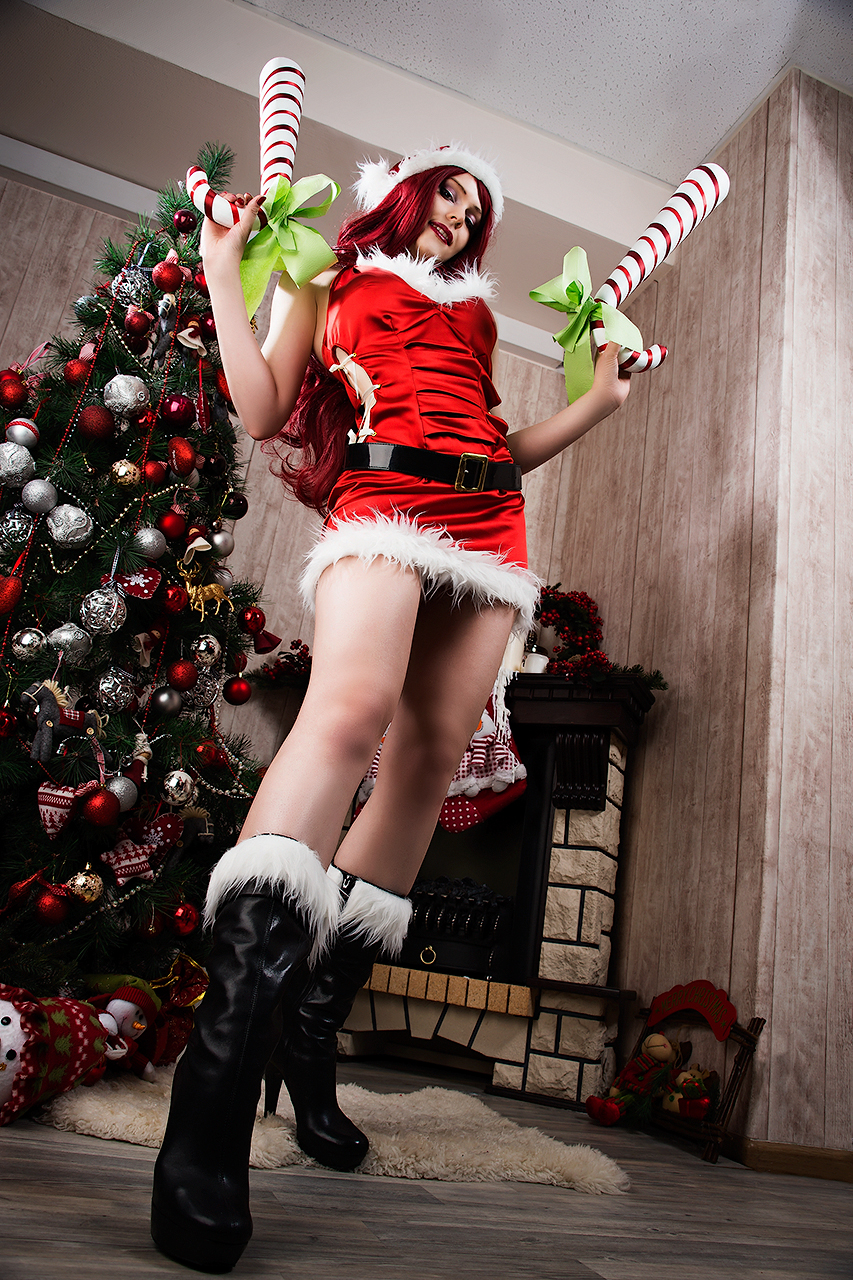 Candy Cane Miss Fortune ~ cosplay