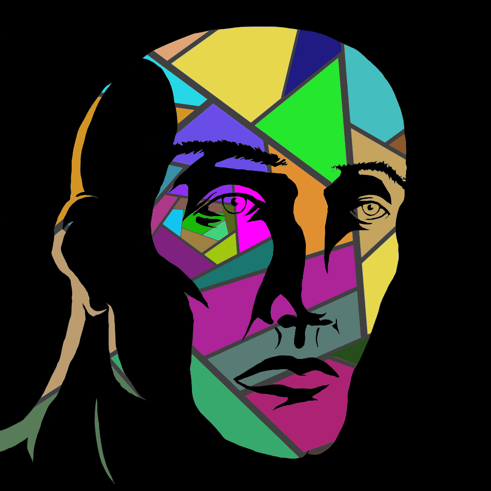 psychedelic face by lucasschneider on deviantart
