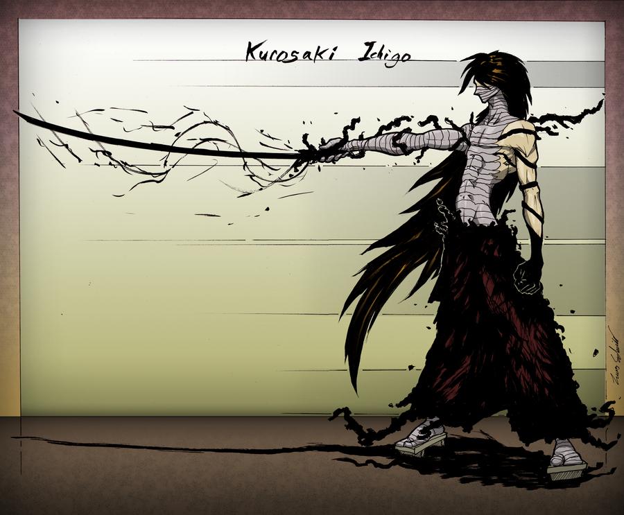 Ichigo Kurosake Final Getsuga Tenshou Colored By LucasSchneider