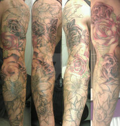 lillies, orchids, roses