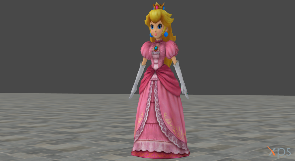 Peach model edited and saturated by darkfalco313 on deviantart