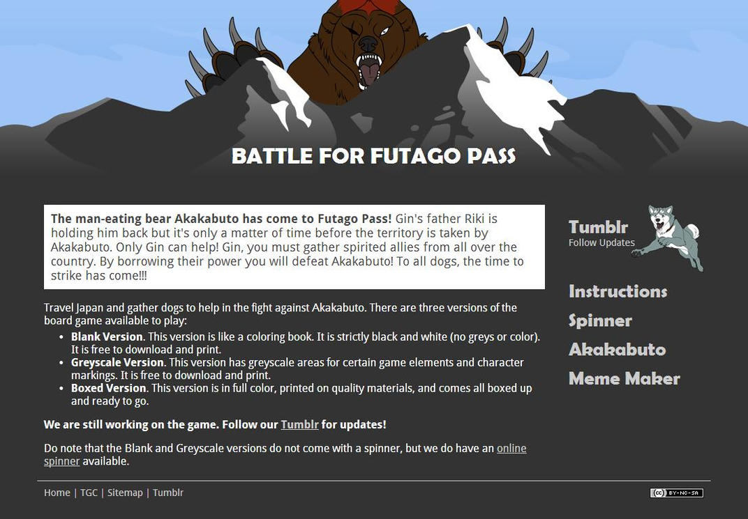 Battle for Futago Pass Website by FeatheredCritter