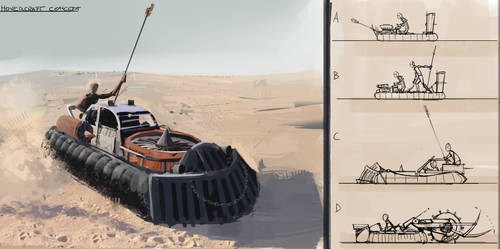 Mad Max style hovercraft Concept by Aleltg