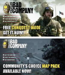 Battlefield: Bad Co. banners 1 by scott-baumann
