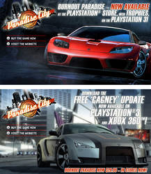 Burnout Paradise DLC banners by scott-baumann