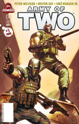 Army of Two issue 1 cover by scott-baumann