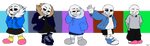 Sans Outfits by XJessiePOPX