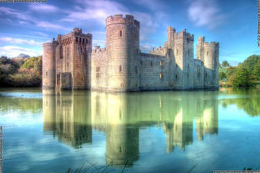 Bodiam Castle, an English castle in East Sussex by deathproneimages