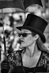Steampunk lady on Hastings Pier by deathproneimages