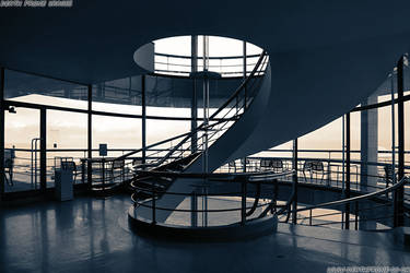 De La Warr Pavilion spiral staircase in Bexhill by deathproneimages