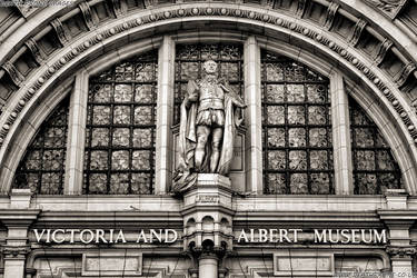 The Victoria and Albert museum in London by deathproneimages