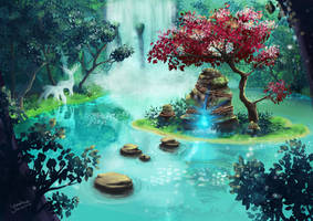 Mysterious Japanese garden by Yonakaaga