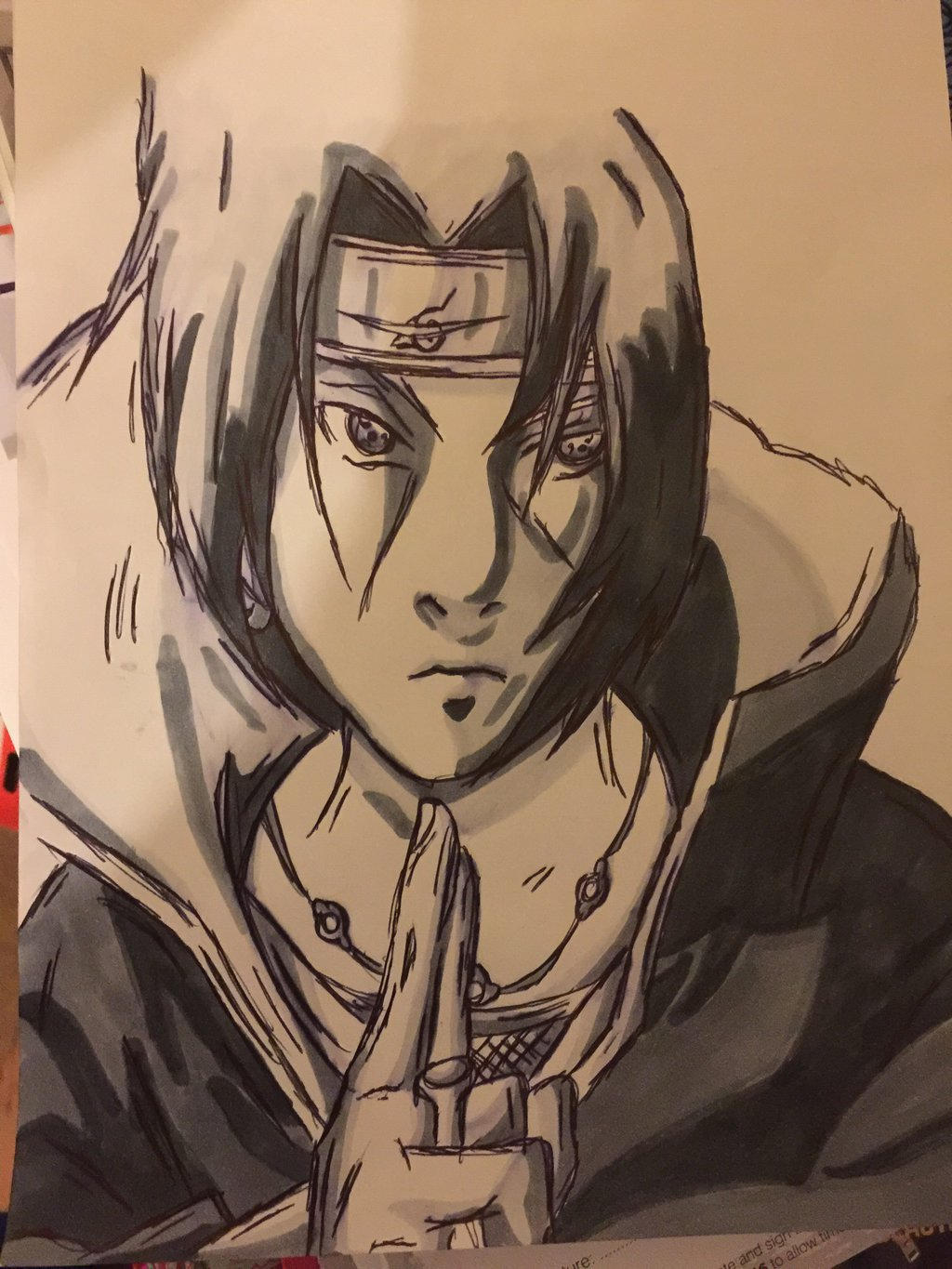 itachi uchiha drawing warm grey by benjisart