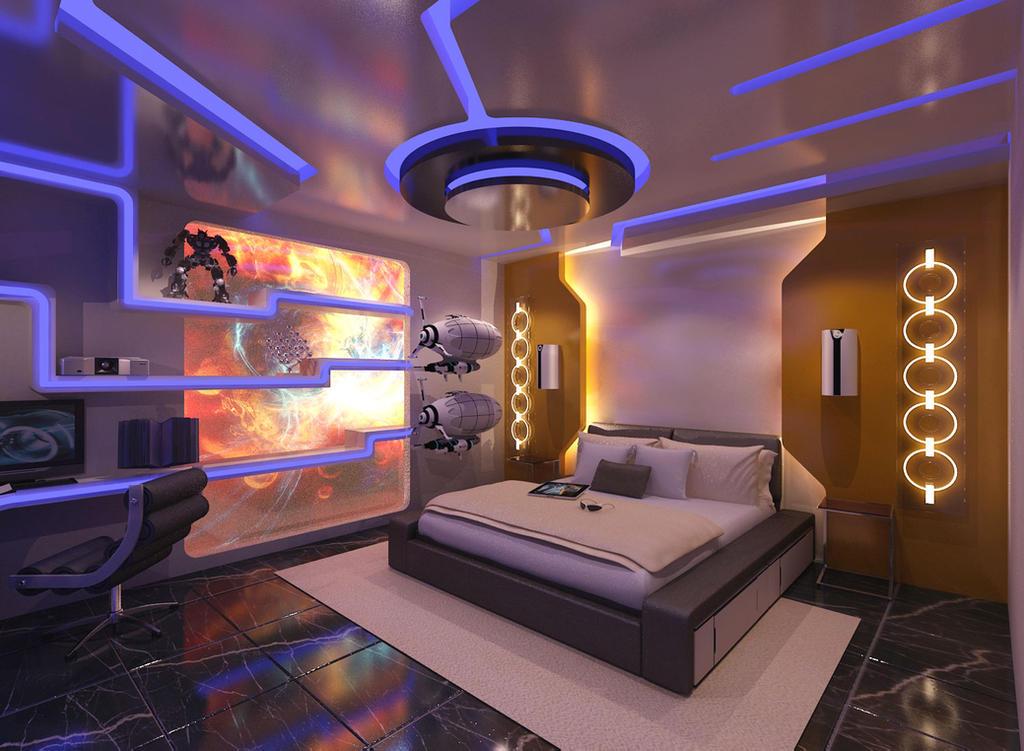 Futuristic Bedroom by Dannvanders on DeviantArt