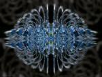 capricious blue symmetrical neuro fractal by MatzeR