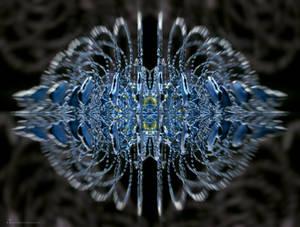 capricious blue symmetrical neuro fractal