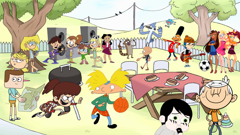Cartoon Characters 2016 : Cartoon characters having a crossover party by edmloud on