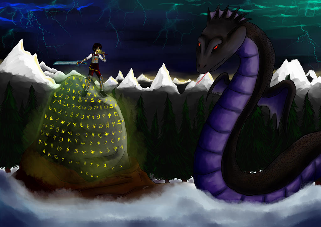 The Marriage Stone _ Wyrms attack by Enide-Kant