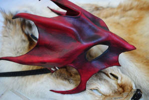 Ruby Great Dragon Mask - Side by Epic-Leather