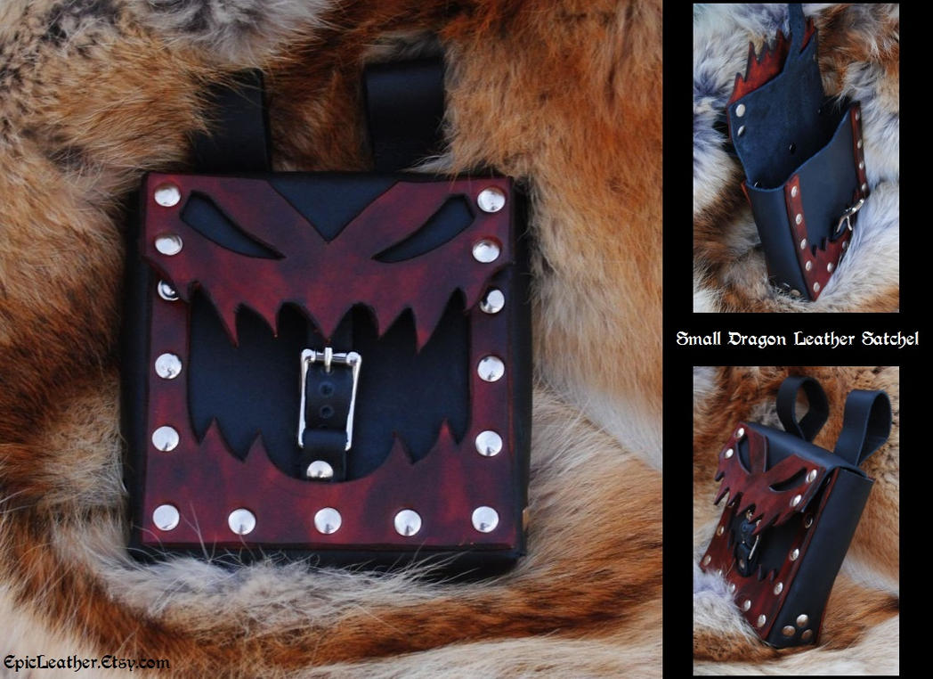 Small Dragon Leather Satchel by Epic-Leather