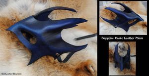 Sapphire Drake Leather Mask